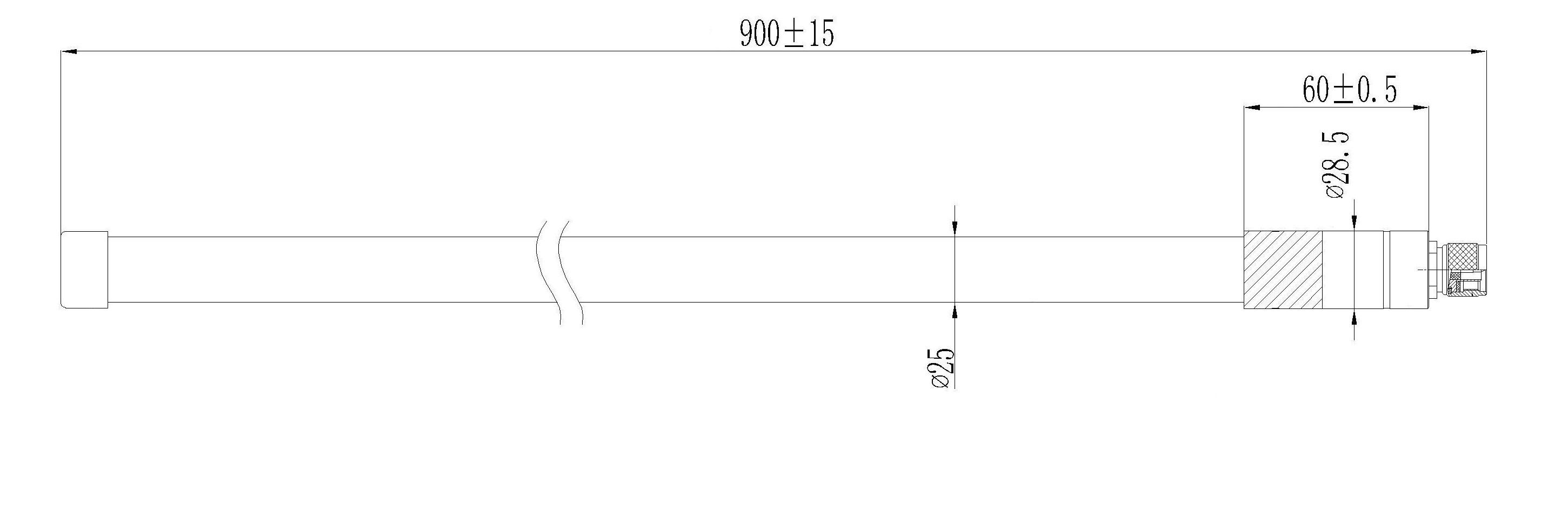 RAKARG15 Atenna dimensions